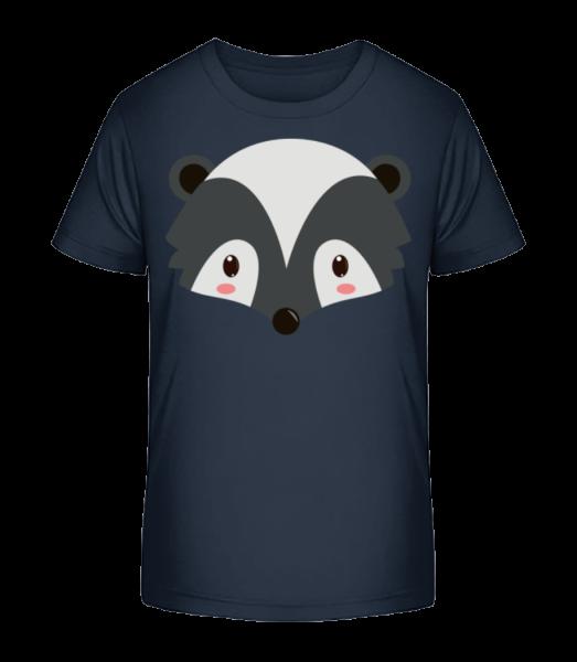 Racoon Comic - Kid's Premium Bio T-Shirt - Navy - Vorn