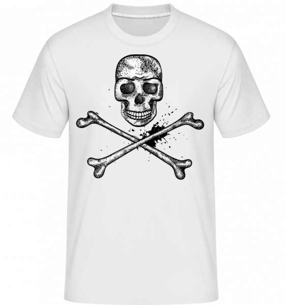 Skull Comic - Shirtinator Men's T-Shirt - White - Vorn