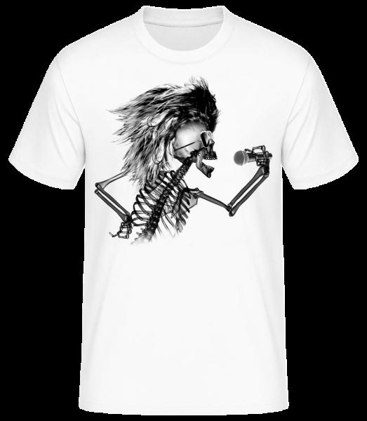Singing Skeleton - Men's Basic T-Shirt - White - Vorn