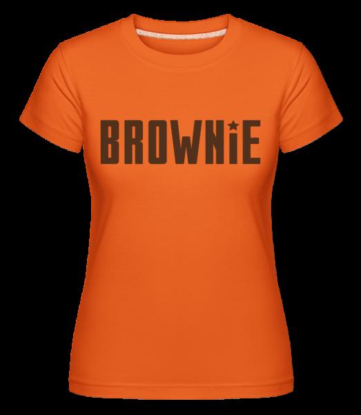 Brownie - Shirtinator Women's T-Shirt - Orange - Vorn