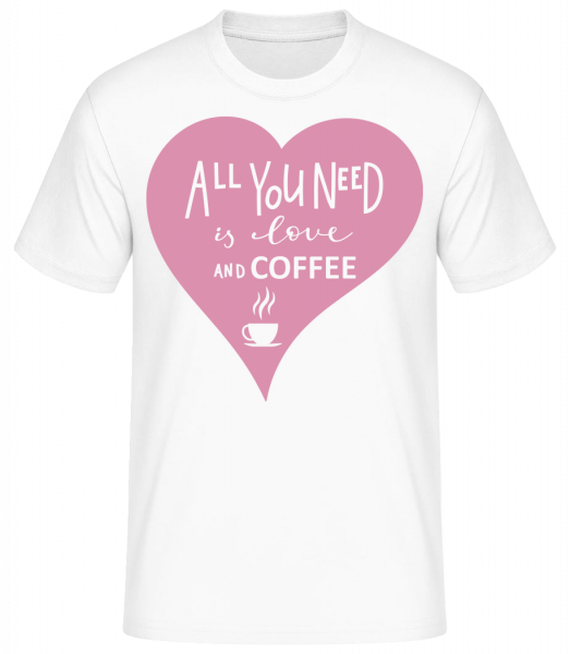 Love And Coffee - Basic T-shirt - White - Vorn