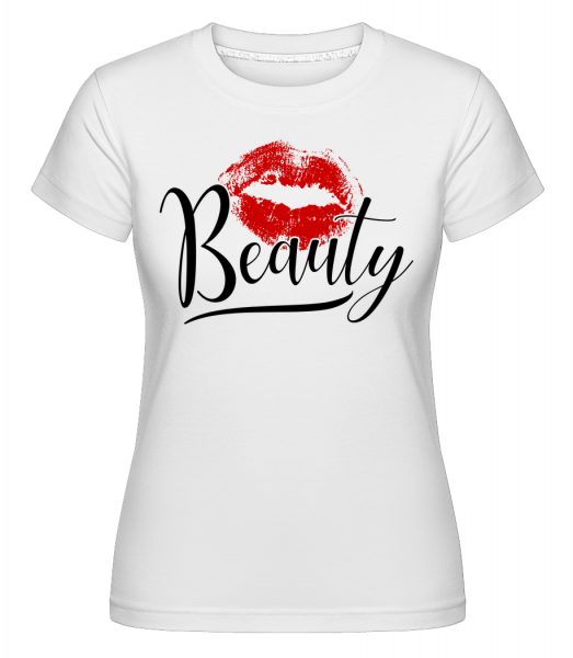 Beauty Kissing Mouth -  Shirtinator Women's T-Shirt - White - Vorn