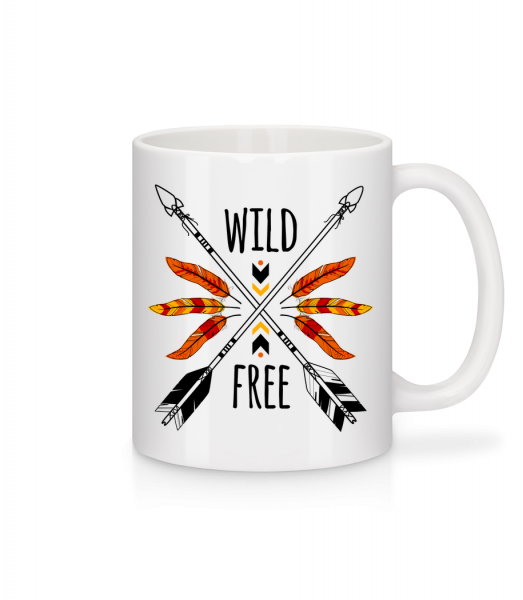 Wild And Free Logo - Mug - White - Vorn