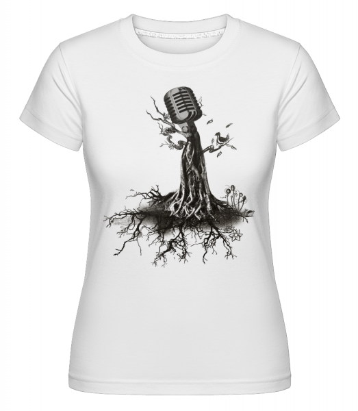 Microphone Tree - Shirtinator Women's T-Shirt - White - Vorn