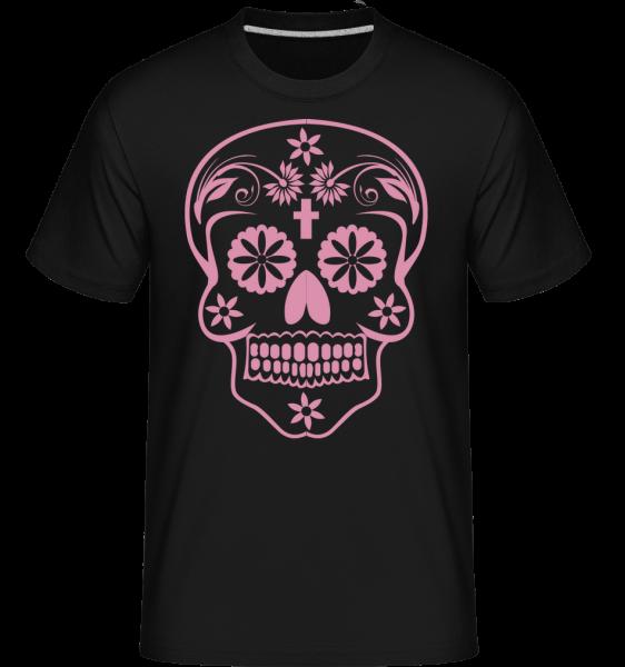Día de los Muertos Skull -  Shirtinator Men's T-Shirt - Black - Vorn