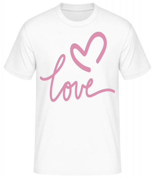 Love - Basic T-shirt - White - Vorn