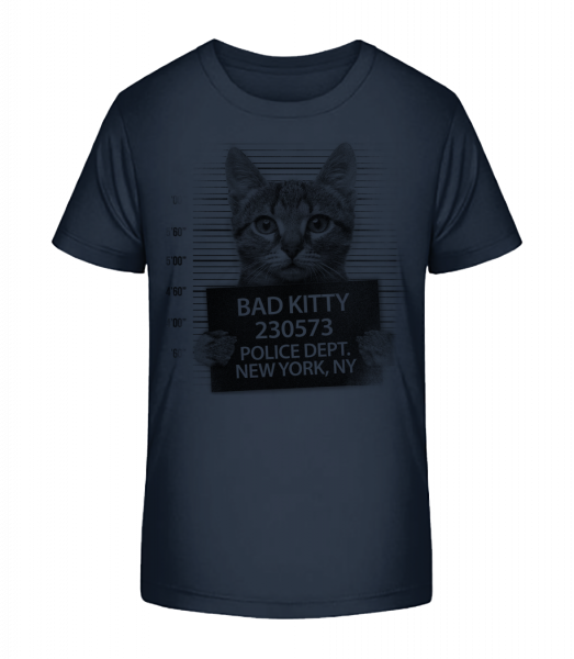 Criminal Cat - Kid's Premium Bio T-Shirt - Navy - Vorn