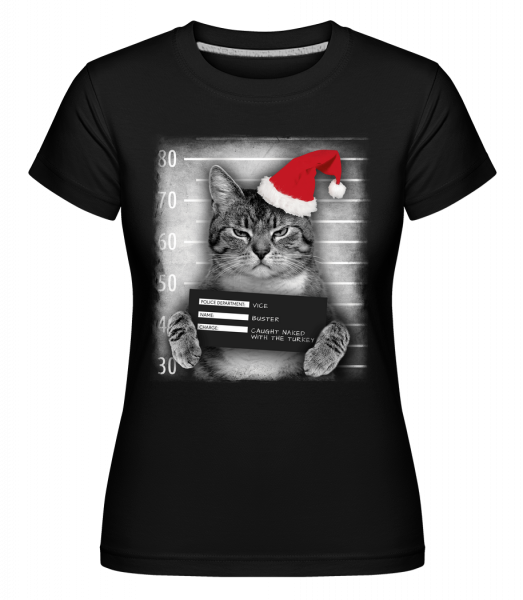 Cat XMas Guilty - Shirtinator Women's T-Shirt - Black - Vorn