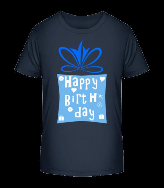 Happy Birthday Logo - Kid's Premium Bio T-Shirt - Navy - Vorn