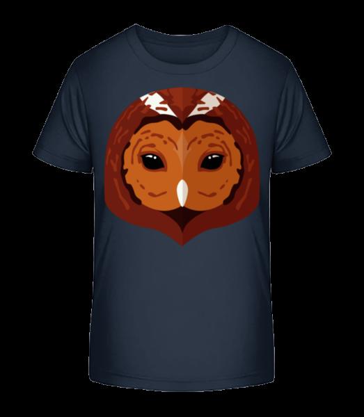 Owl Comic Shadow - Kid's Premium Bio T-Shirt - Navy - Vorn