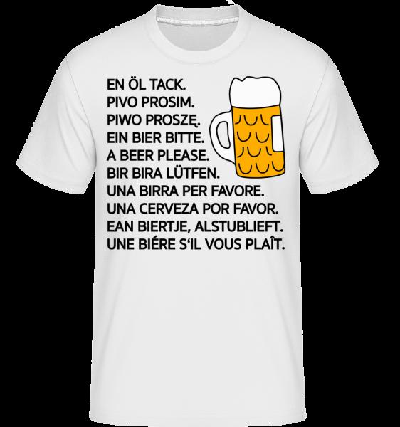 Beer Please -  Shirtinator Men's T-Shirt - White - Vorn