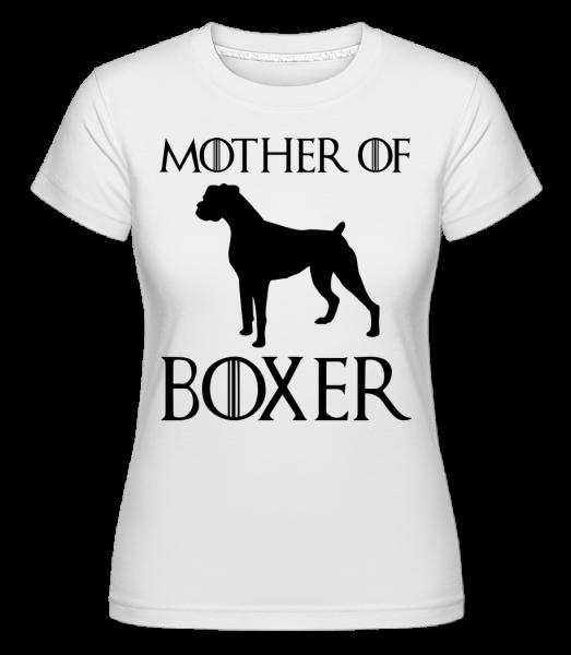 Mother Of Boxer - Shirtinator Women's T-Shirt - White - Vorn