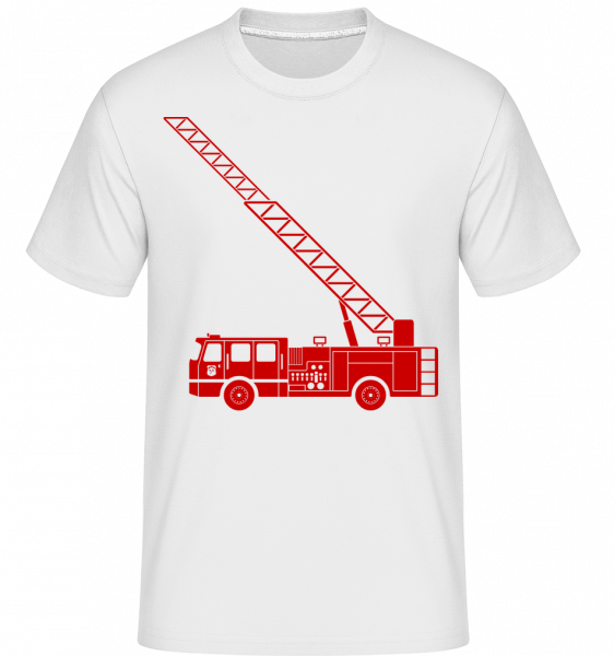 Fire Department Symbol Red - Shirtinator Men's T-Shirt - White - Vorn