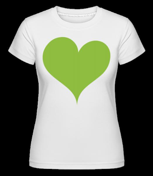 Stylish Heart -  Shirtinator Women's T-Shirt - White - Vorn