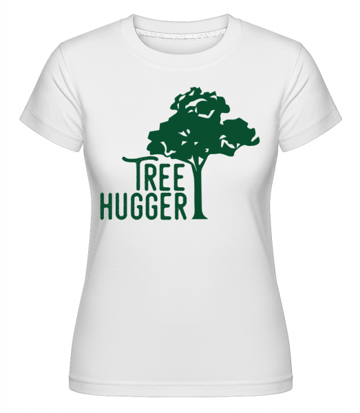 Tree Hugger -  Shirtinator Women's T-Shirt - White - Vorn