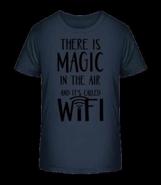 Magic In The Air - Kid's Premium Bio T-Shirt - Navy - Vorn