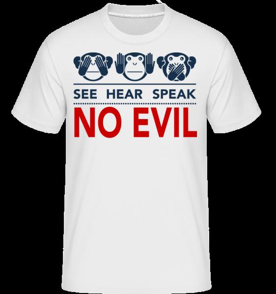 See Hear Speak No Evil -  Shirtinator Men's T-Shirt - White - Vorn