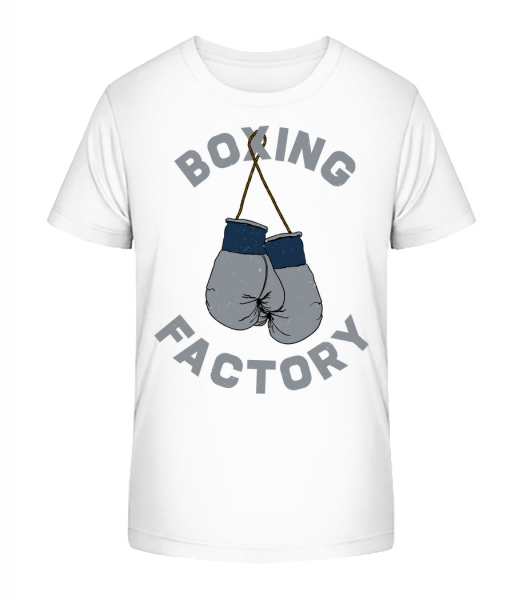 Boxing Factory - Kid's Premium Bio T-Shirt - White - Vorn