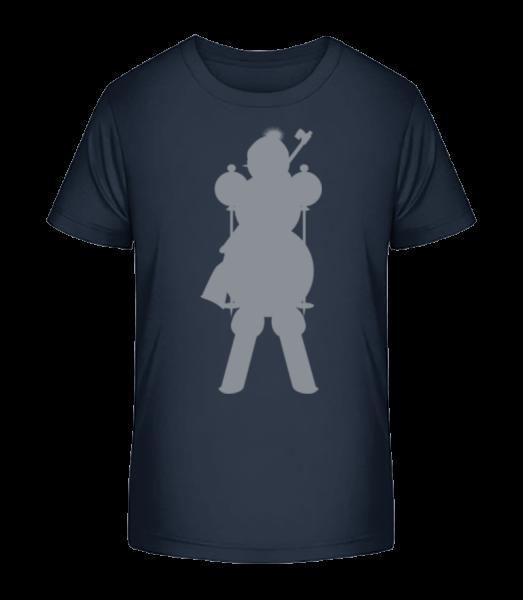 Ski Snowman Grey - Kid's Premium Bio T-Shirt - Navy - Vorn