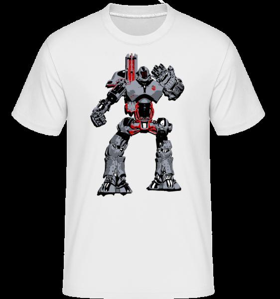 Fighting Robots -  Shirtinator Men's T-Shirt - White - Vorn
