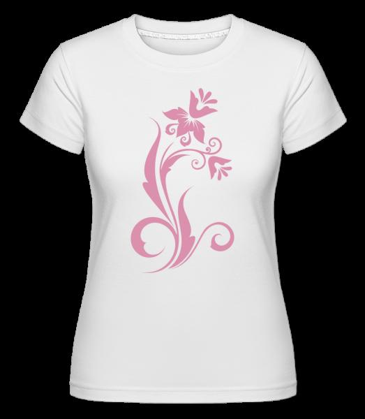 Flower Ornament Pink -  Shirtinator Women's T-Shirt - White - Vorn