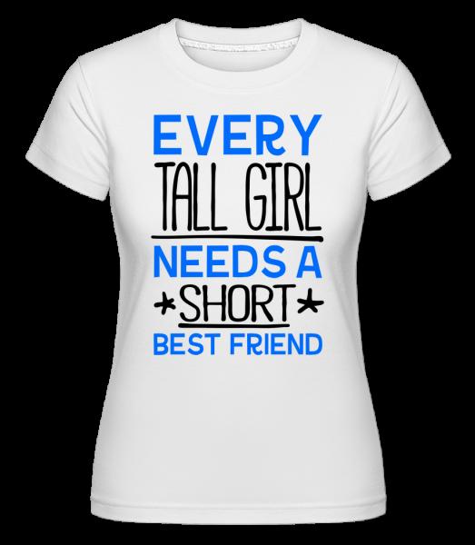 A Short Best Friend - Shirtinator Women's T-Shirt - White - Vorn