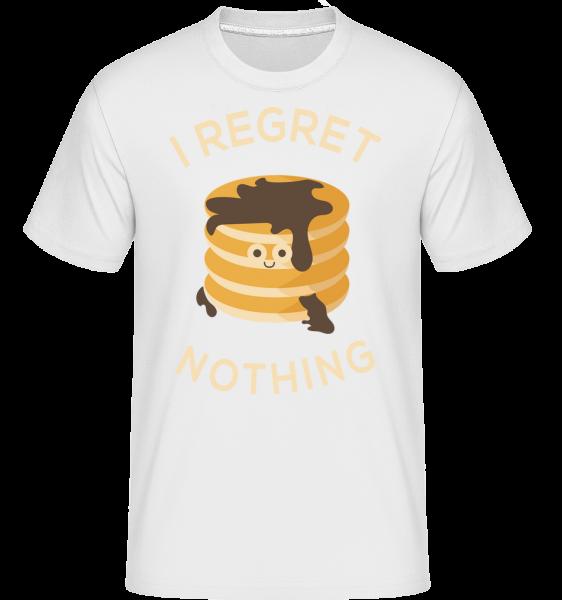 I Regret Nothing Pancake -  Shirtinator Men's T-Shirt - White - Vorn