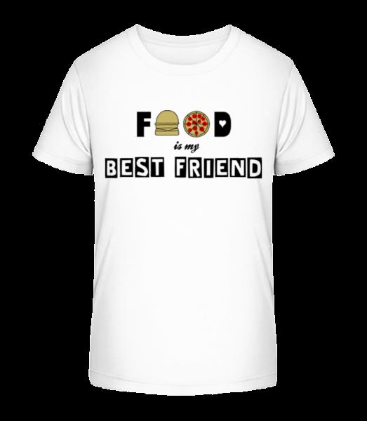 Food Is My Best Friend - Kid's Premium Bio T-Shirt - White - Vorn