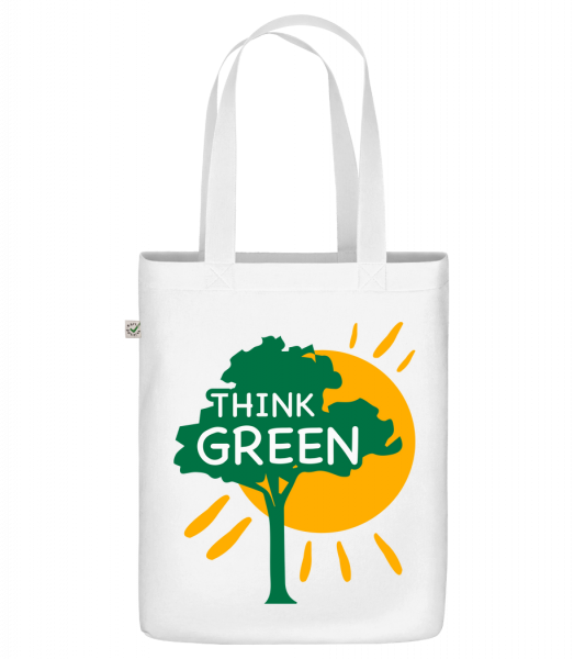 """Think Green - Organic """"Earth Positive"""" tote bag - White - Vorn"""