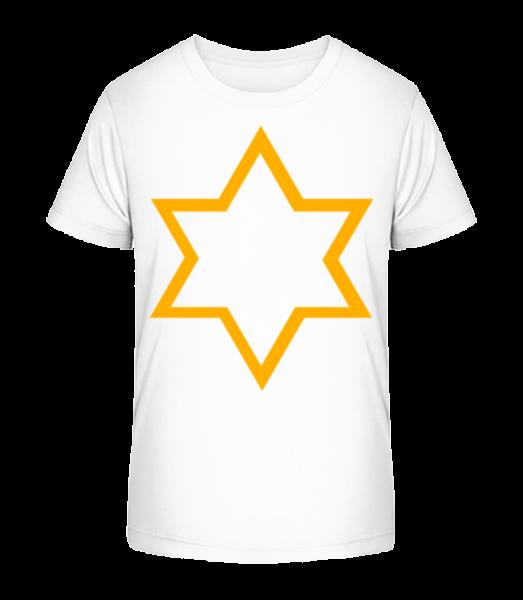 Star Icon Yellow - Kid's Premium Bio T-Shirt - White - Vorn