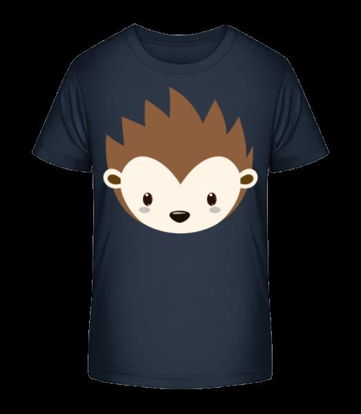 Hedgehog Comic - Kid's Premium Bio T-Shirt - Navy - Vorn