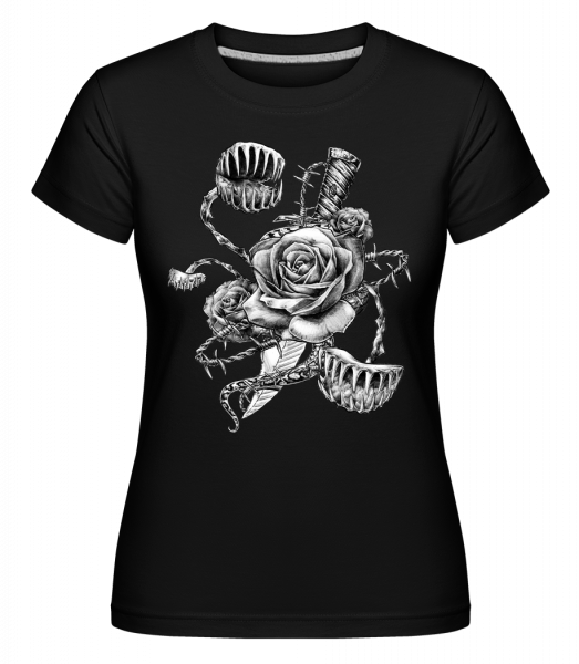 Roses Carnivores -  Shirtinator Women's T-Shirt - Black - Vorn