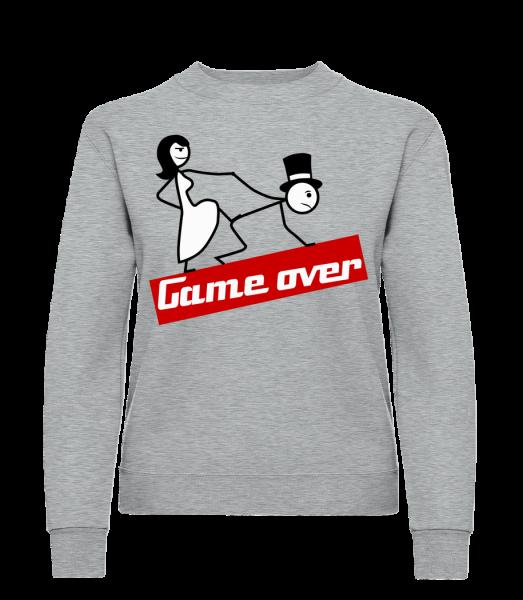 Game Over - Classic Ladies' Set-In Sweatshirt - Heather Grey - Vorn