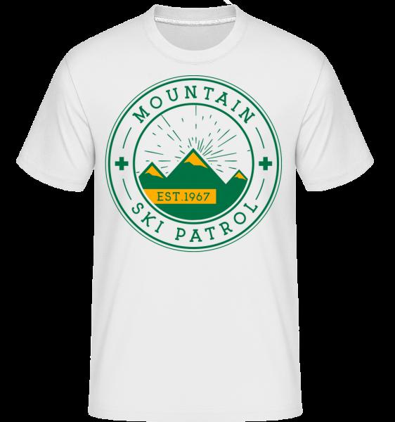 Mountain Ski Patrol Sign -  Shirtinator Men's T-Shirt - White - Vorn