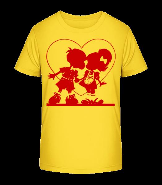 Children In Love - Kid's Premium Bio T-Shirt - Yellow - Vorn