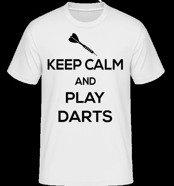Keep Calm And Darts -  Shirtinator Men's T-Shirt - White - Vorn