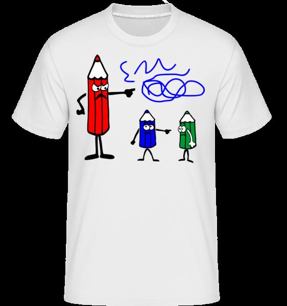 It's The Blue Ones Fault - Shirtinator Men's T-Shirt - White - Vorn