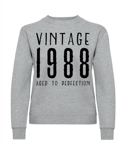 Vintage 1988 Aged To Perfection - Classic Ladies' Set-In Sweatshirt - Heather Grey - Vorn