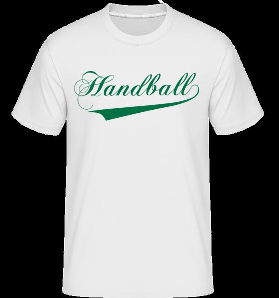 Handball Stroke -  Shirtinator Men's T-Shirt - White - Vorn