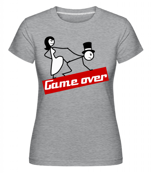Game Over - Shirtinator Women's T-Shirt - Heather Grey - Vorn