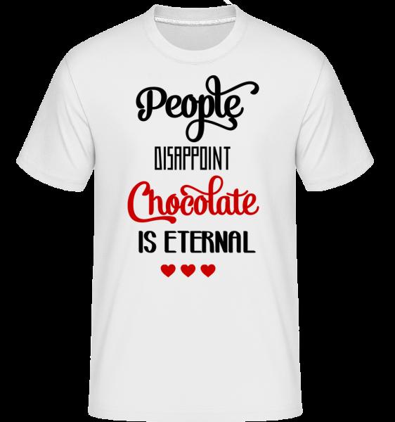 Chocolate Is Eternal - Shirtinator Men's T-Shirt - White - Vorn