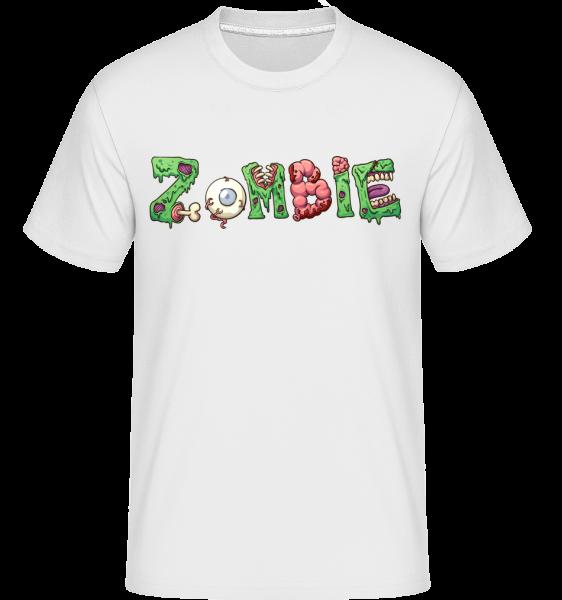 Zombie Font - Shirtinator Men's T-Shirt - White - Vorn