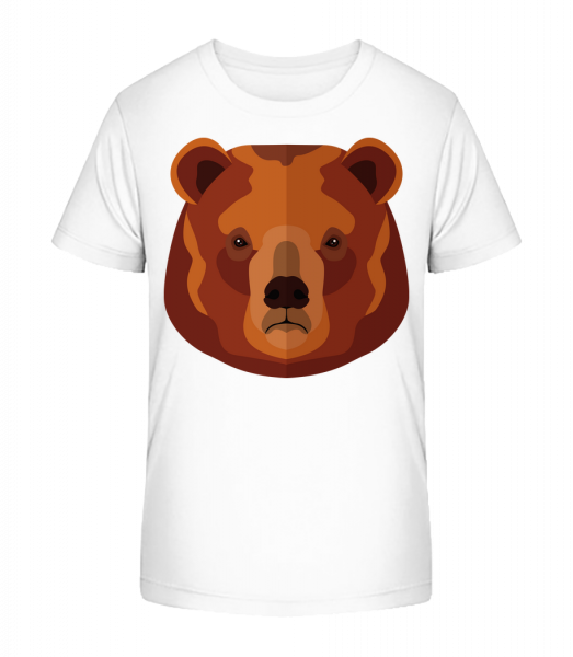 Bear Comic - Kid's Premium Bio T-Shirt - White - Vorn