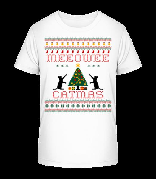 MEEOWEE Catmas - Kid's Premium Bio T-Shirt - White - Vorn