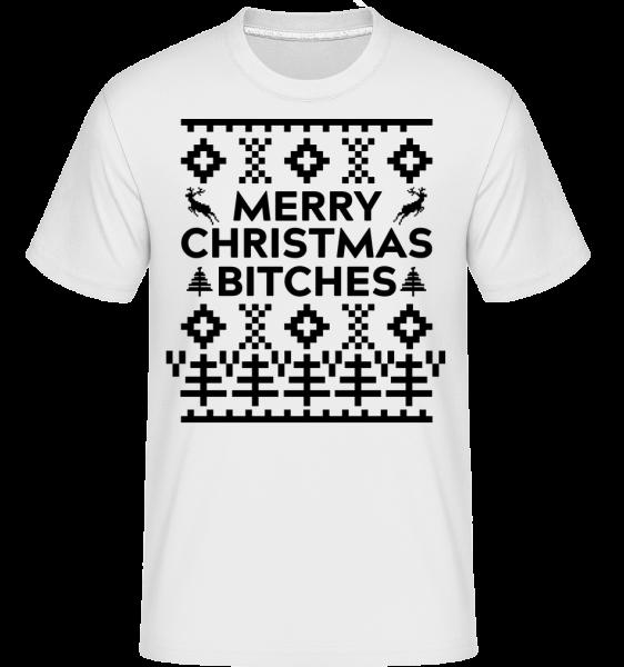Merry Christmas Bitches -  Shirtinator Men's T-Shirt - White - Vorn