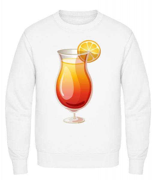 Cocktail Sex On The Beach - Classic Set-In Sweatshirt - White - Vorn