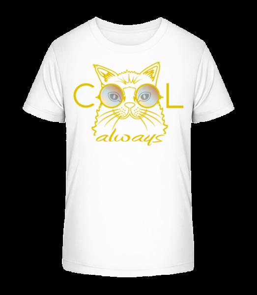 Cool Cat - Kid's Premium Bio T-Shirt - White - Vorn