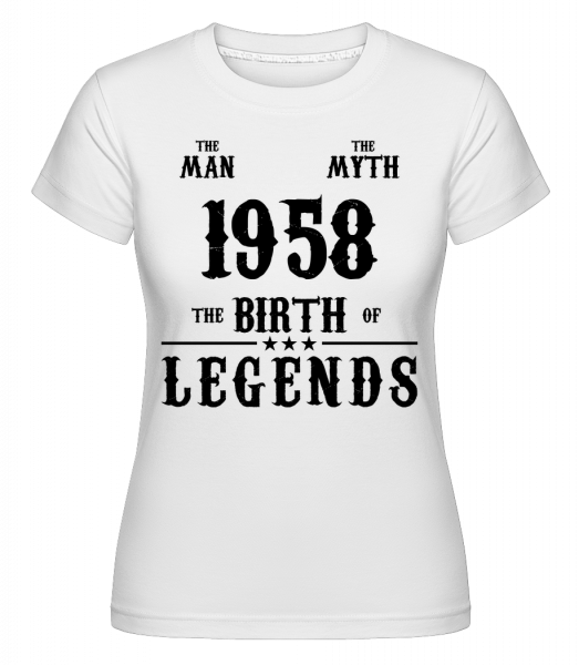 The Myth 1958 - Shirtinator Women's T-Shirt - White - Vorn