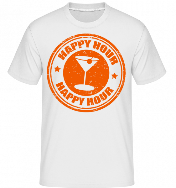Happy Hour Cocktail -  Shirtinator Men's T-Shirt - White - Vorn