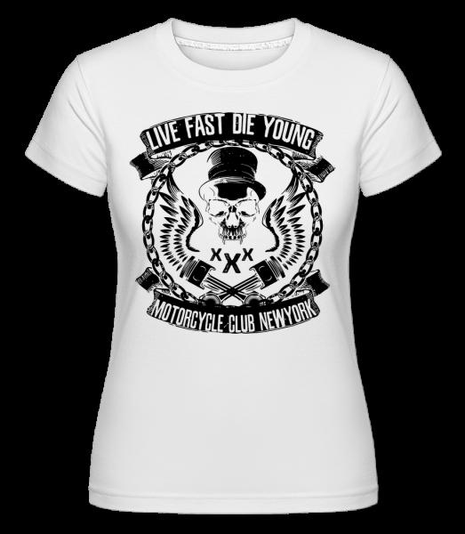 Live Fast Die Young Skull - Shirtinator Women's T-Shirt - White - Vorn